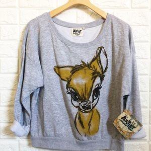 NWT Disney Artist Collection Bambi sweatshirt